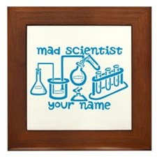 Personalized Mad Scientist Framed Tile