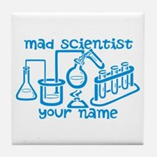 Personalized Mad Scientist Tile Coaster