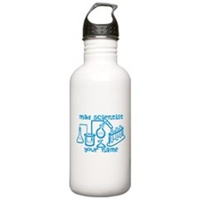 Personalized Mad Scientist Water Bottle