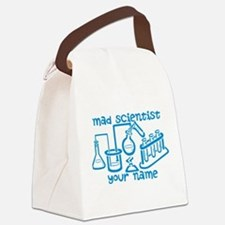 Personalized Mad Scientist Canvas Lunch Bag