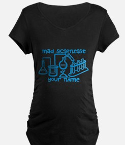 Personalized Mad Scientist Maternity T-Shirt