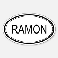 Ramon Oval Design Oval Decal