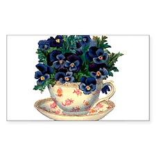 Teacup Flowers Decal