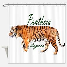 Walking tiger Shower Curtain