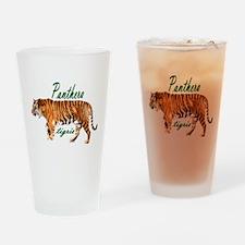 Walking tiger Drinking Glass