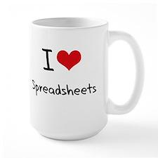 I love Spreadsheets Mug