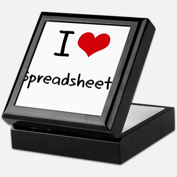 I love Spreadsheets Keepsake Box
