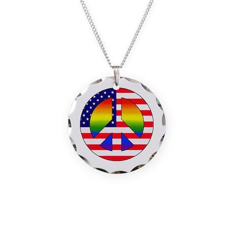 Gay Patriot Necklace Circle Charm