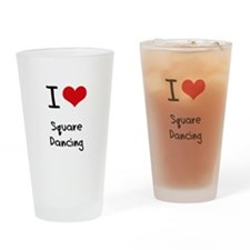 I love Square Dancing Drinking Glass