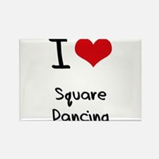 I love Square Dancing Rectangle Magnet