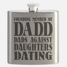 DADD Dads Against Daughters Dating (Blk) Flask