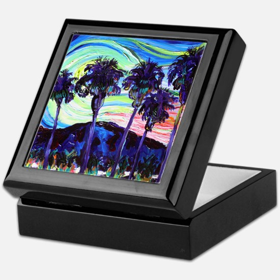 Palm Springs Night Keepsake Box