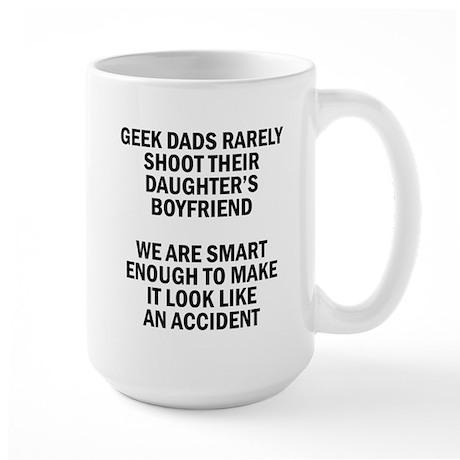 Geek Dads Rarely Shoot (Lt) Mug