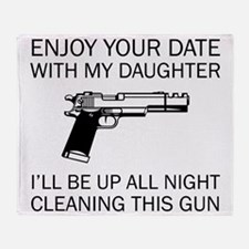 Cleaning This Gun Throw Blanket