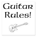 Guitar Rules Square Car Magnet 3