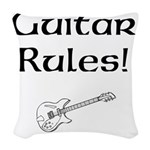 Guitar Rules Woven Throw Pillow