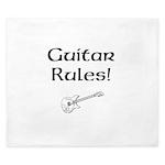 Guitar Rules King Duvet