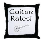 Guitar Rules Throw Pillow