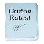 Guitar Rules baby blanket
