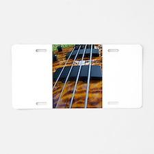 Four String Tiger Eye bass Aluminum License Plate