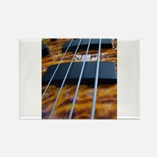 Four String Tiger Eye bass Rectangle Magnet
