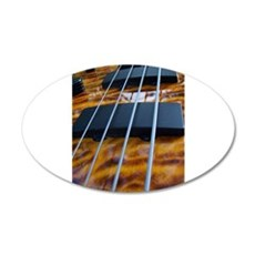 Four String Tiger Eye bass Wall Decal