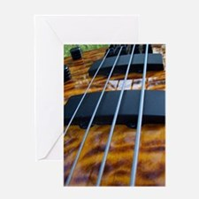 Four String Tiger Eye bass Greeting Card
