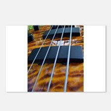 Four String Tiger Eye bass Postcards (Package of 8
