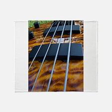 Four String Tiger Eye bass Throw Blanket