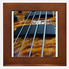 Four String Tiger Eye bass Framed Tile