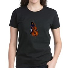 Female orchestra bass player blue shirt T-Shirt