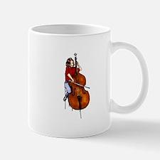 Red shirted orchestra bass player Mug