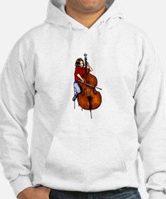 Red shirted orchestra bass player Hoodie