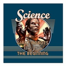 "SCIENCE: Giant Robots Square Car Magnet 3"" x"