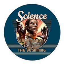 SCIENCE: Giant Robots Round Car Magnet