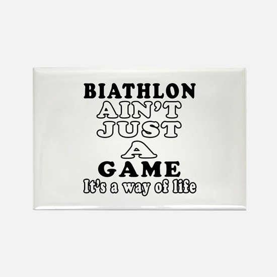 Biathlon ain't just a game Rectangle Magnet