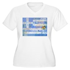 Greek Flag Plus Size T-Shirt