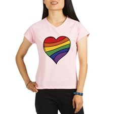 Rainbow Heart Peformance Dry T-Shirt
