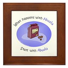 What Happens With Abuela... Framed Tile
