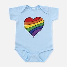 Rainbow Heart Body Suit