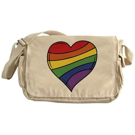 Rainbow Heart Messenger Bag
