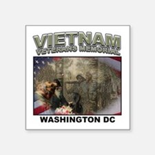 "Vietnam Veterans' Memorial Square Sticker 3"" x 3"""