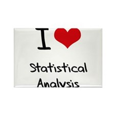 I love Statistical Analysis Rectangle Magnet
