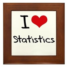 I love Statistics Framed Tile