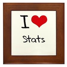 I love Stats Framed Tile