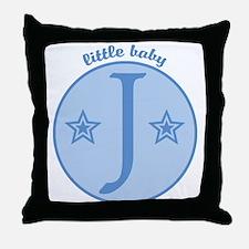 Baby J Throw Pillow