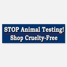 STOP Animal Testing - Bumper Bumper Bumper Sticker