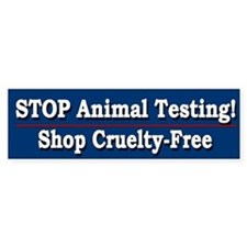STOP Animal Testing - Bumper Bumper Sticker