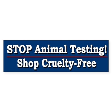 STOP Animal Testing - Bumper Sticker