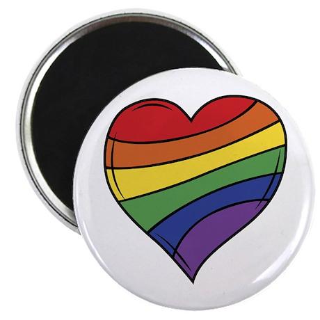 "Rainbow Heart 2.25"" Magnet (100 pack)"